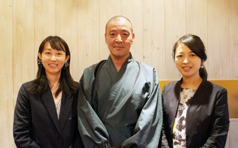 群馬県高崎にある瀧沢禅寺の秋月典道住職とお寺ステイシェア社長